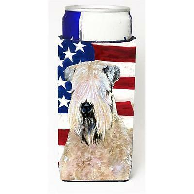 Usa American Flag With Wheaten Terrier Soft Coated Michelob Ultra s For Slim ...