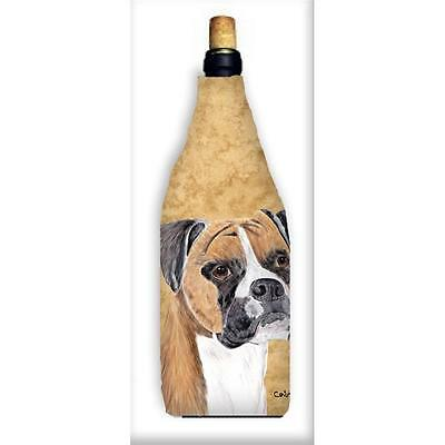 Carolines Treasures SC9121WINEBOTTLE Boxer Wine Bottle Hugger
