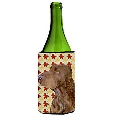 Carolines Treasures Field Spaniel Fall Leaves Portrait Wine Bottle Hugger 24 oz.