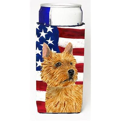 Usa American Flag With Norwich Terrier Michelob Ultra s For Slim Cans 12 oz. • AUD 47.47