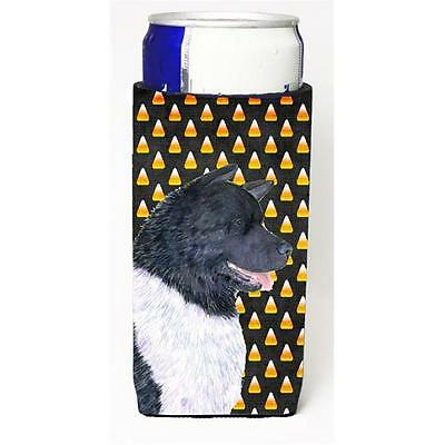 Akita Candy Corn Halloween Portrait Michelob Ultra s For Slim Cans 12 oz.