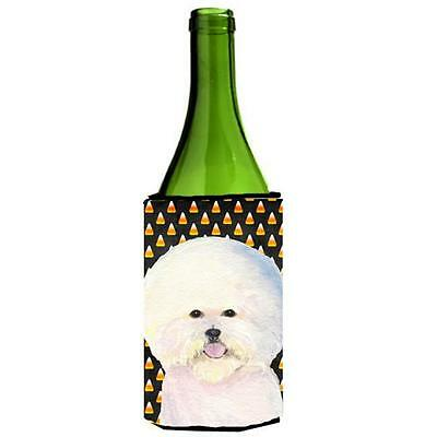 Carolines Treasures Bichon Frise Halloween Portrait Wine Bottle Hugger 24 oz.