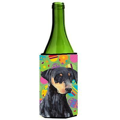 Carolines Treasures Doberman Easter Eggtravaganza Wine Bottle Hugger 24 oz.