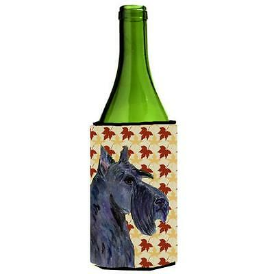 Scottish Terrier Fall Leaves Portrait Wine Bottle Hugger 24 oz.