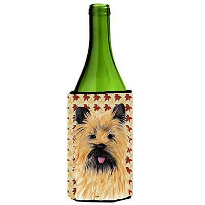 Carolines Treasures Cairn Terrier Fall Leaves Portrait Wine Bottle Hugger 24 oz.