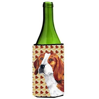 Carolines Treasures Beagle Fall Leaves Portrait Wine Bottle Hugger 24 oz.