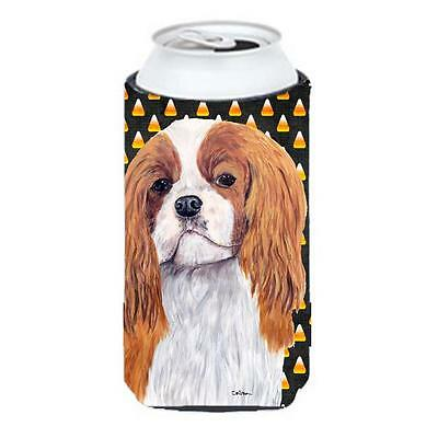 Cavalier Spaniel Blenheim Candy Corn Halloween Portrait Tall Boy Hugger 22 To...