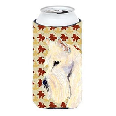 Scottish Terrier Wheaten Fall Leaves Portrait Tall Boy Hugger 22 To 24 oz.