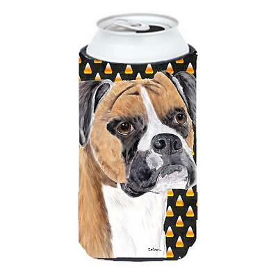 Boxer Fawn Uncropped Ears Candy Corn Halloween Portrait Tall Boy Hugger 22 To... • AUD 47.47