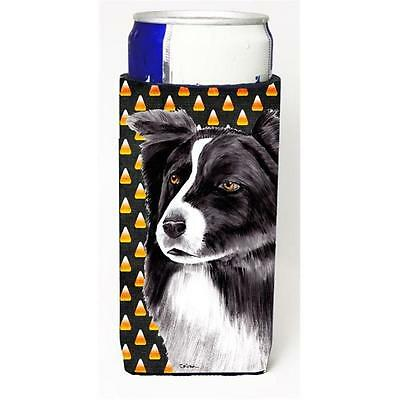 Border Collie Candy Corn Halloween Portrait Michelob Ultra s For Slim Cans 12...