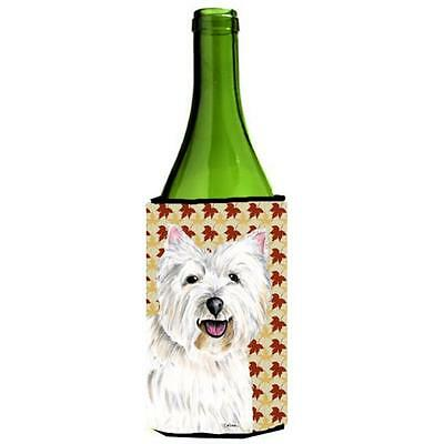 Carolines Treasures Westie Fall Leaves Portrait Wine Bottle Hugger 24 oz.