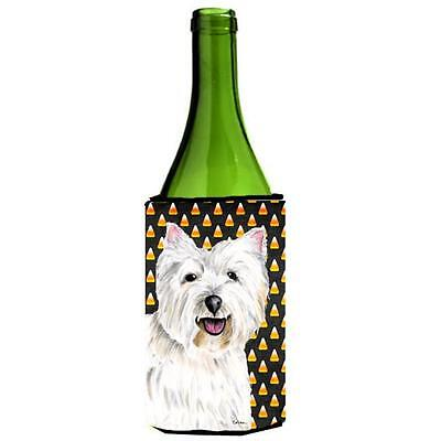Westie Candy Corn Halloween Portrait Wine Bottle Hugger 24 oz.