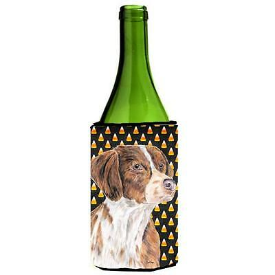 Brittany Candy Corn Halloween Portrait Wine Bottle Hugger 24 oz.