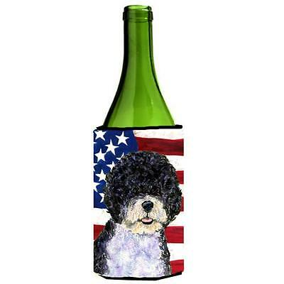 Usa American Flag With Portuguese Water Dog Wine bottle sleeve Hugger