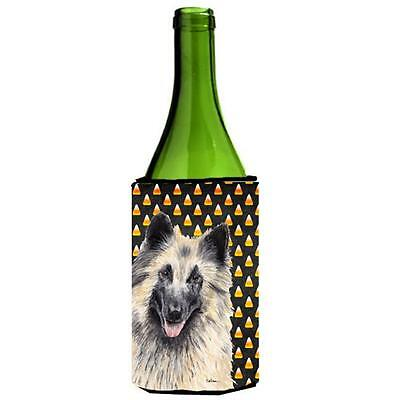 Belgian Tervuren Candy Corn Halloween Portrait Wine Bottle Hugger 24 oz.