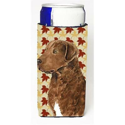 Chesapeake Bay Retriever Fall Leaves Portrait Michelob Ultra s For Slim Cans ...
