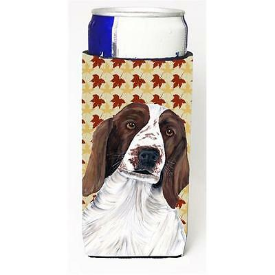 Welsh Springer Spaniel Fall Leaves Portrait Michelob Ultra s For Slim Cans 12...