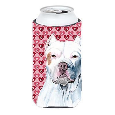 Pit Bull Hearts Love And Valentines Day Portrait Tall Boy bottle sleeve Hugge...