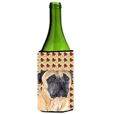 Mastiff Fall Leaves Portrait Wine bottle sleeve Hugger 24 oz.