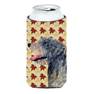Irish Wolfhound Fall Leaves Portrait Tall Boy bottle sleeve Hugger 22 To 24 oz.