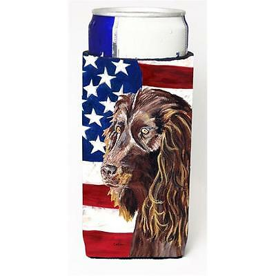 Boykin Spaniel Usa American Flag Michelob Ultra bottle sleeve for Slim Can