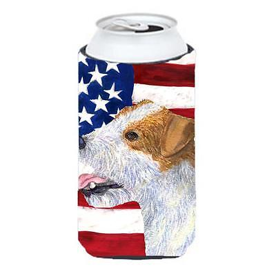 Usa American Flag With Jack Russell Terrier Tall Boy Hugger 22 To 24 oz.