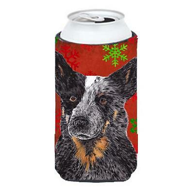 Australian Cattle Dog Red Green Snowflakes Christmas Tall Boy Hugger 22 To 24...
