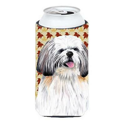 Shih Tzu Fall Leaves Portrait Tall Boy bottle sleeve Hugger 22 To 24 oz. • AUD 47.47