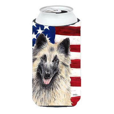 Carolines Treasures USA American Flag with Belgian Tervuren Tall Boy Hugger • AUD 47.47