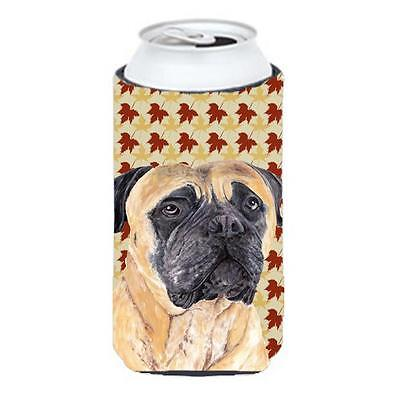 Mastiff Fall Leaves Portrait Tall Boy bottle sleeve Hugger 22 To 24 oz.