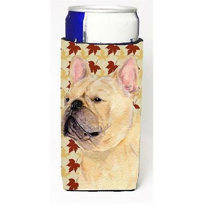 French Bulldog Fall Leaves Portrait Michelob Ultra bottle sleeve for Slim Can