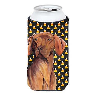 Carolines Treasures Vizsla Candy Corn Halloween Portrait Tall Boy Hugger