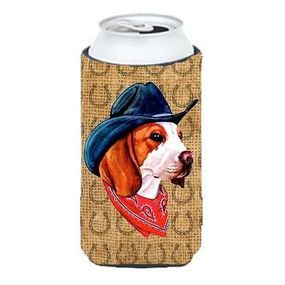 Beagle Dog Country Lucky Horseshoe Tall Boy bottle sleeve Hugger 22 To 24 oz.