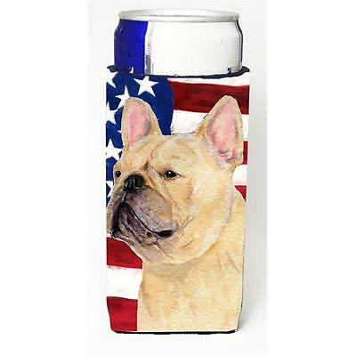Usa American Flag With French Bulldog Michelob Ultra bottle sleeve for Slim Can