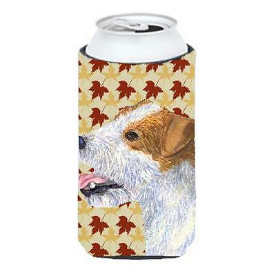 Jack Russell Terrier Fall Leaves Portrait Tall Boy bottle sleeve Hugger 22 To...
