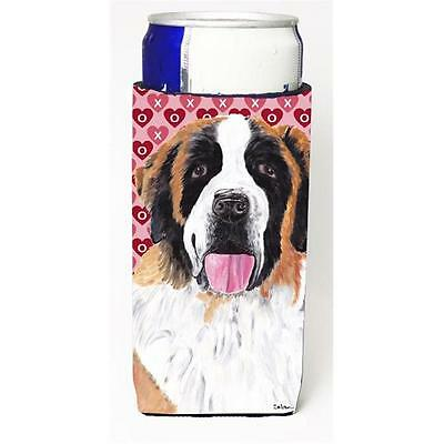 Saint Bernard Hearts Love and Valentines Day Portrait Michelob Ultra bottle s...