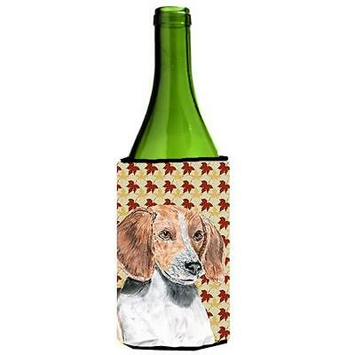 English Foxhound Fall Leaves Wine bottle sleeve Hugger 24 oz.