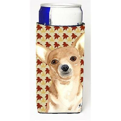 Chihuahua Fall Leaves Michelob Ultra bottle sleeves for slim cans 12 oz.