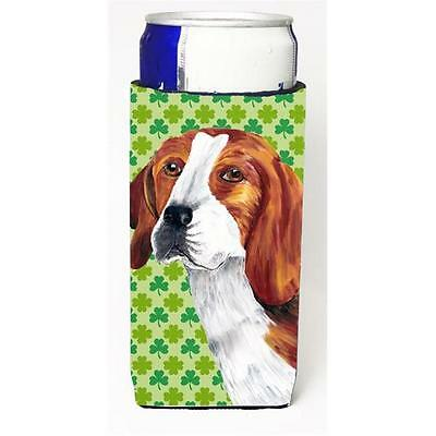 Beagle St. Patricks Day Shamrock Portrait Michelob Ultra bottle sleeves For S...