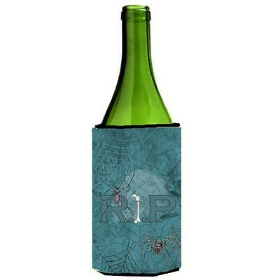 Rip Rest In Peace With Spider Web Halloween Wine bottle sleeve Hugger 24 oz.