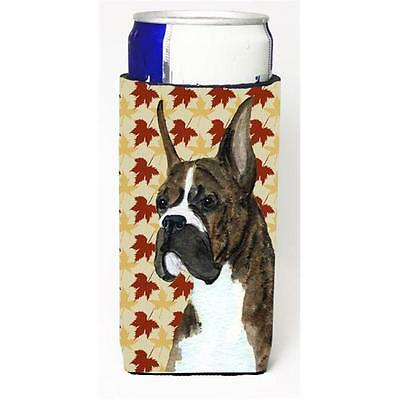 Boxer Brindle Fall Leaves Portrait Michelob Ultra s For Slim Cans 12 oz.