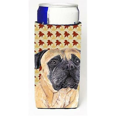 Mastiff Fall Leaves Portrait Michelob Ultra bottle sleeves For Slim Cans 12 oz.