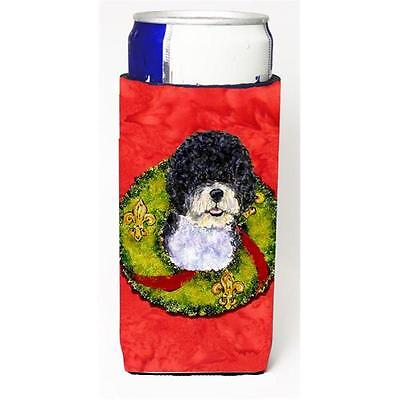 Portuguese Water Dog Christmas Wreath Michelob Ultra bottle sleeves For Slim ...