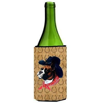 Boxer Dog Country Lucky Horseshoe Wine bottle sleeve Hugger 24 oz.