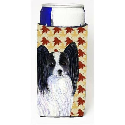 Papillon Fall Leaves Portrait Michelob Ultra bottle sleeves For Slim Cans 12 oz.