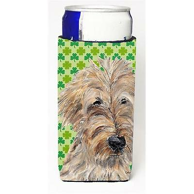Goldendoodle St Patricks Irish Michelob Ultra bottle sleeves For Slim Cans 12...