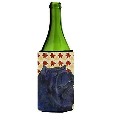 Carolines Treasures Chow Chow Fall Leaves Portrait Wine bottle sleeve Hugger