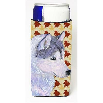 Siberian Husky Fall Leaves Portrait Michelob Ultra bottle sleeves for slim ca... • AUD 47.47