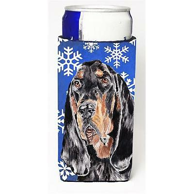 Coonhound Blue Snowflake Winter Michelob Ultra bottle sleeves For Slim Cans 1...