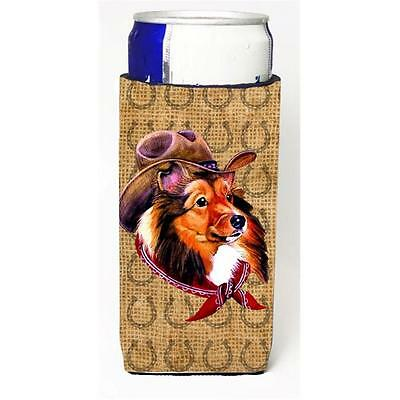 Sheltie Dog Country Lucky Horseshoe Michelob Ultra bottle sleeves For Slim Ca...